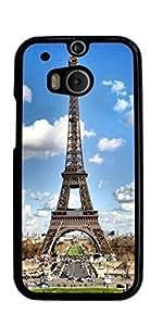 Paris Eiffel Tower Hard Case for HTC ONE M8 ( Sugar Skull )
