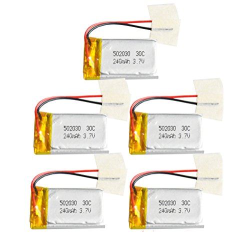 5pcs/lot 3.7v 240mAh 30C LiPo Battery for Syma S105 S107G S108 Mini Helicopter