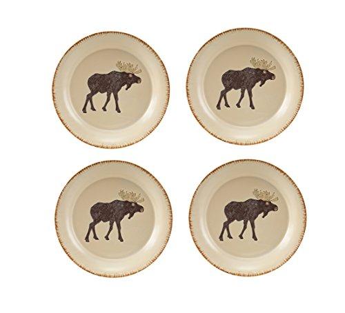 Park Designs Rustic Retreat Moose Salad Plates (Set of 4), ()