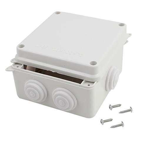 Junction Cable - Awclub ABS Plastic Dustproof Waterproof IP65 Junction Box Universal Electrical Project Enclosure White 4