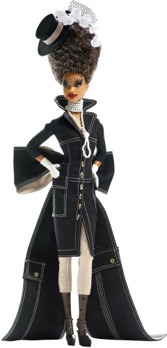 - Barbie Gold Label Byron Lars 3rd Doll in Chapeaux Collection Pepper Diva in Black