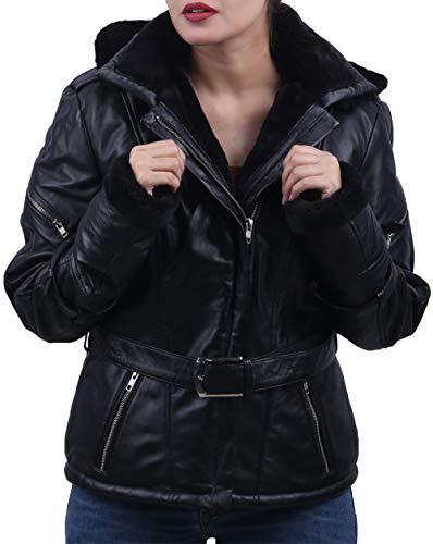LeatherJacket4 Once Upon a Time Emma Swan Black Leather Jacket (S) ()