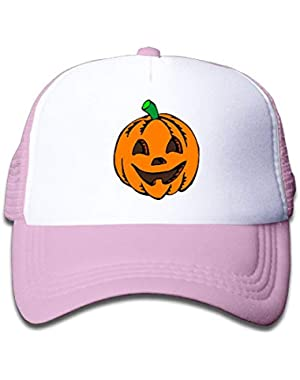 Pumpkin Clipart Halloween On Kids Trucker Hat, Youth Toddler Mesh Hats Baseball Cap