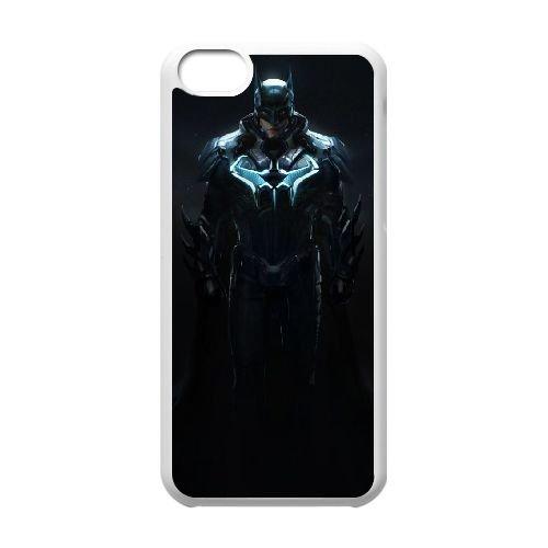 Batman coque iPhone 5C Housse Blanc téléphone portable couverture de cas coque EBDOBCKCO09737