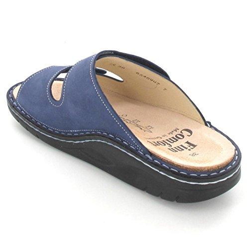Finn Comfort - Zuecos de Piel para mujer azul Denim