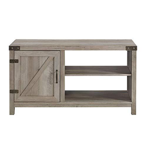 WE Furniture AZ44BD1DGW TV Stand, 44 , Grey Wash