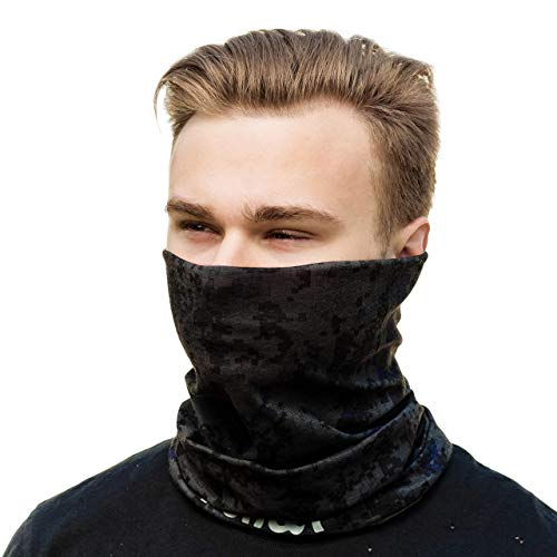 Face Clothing Mask - Multifunctional Headband - Neck Gaiter - Seamless Camo Headwear of Microfiber for Outdoors Protection from Wind, Dust and Sun in Cold and Hot Weather ()