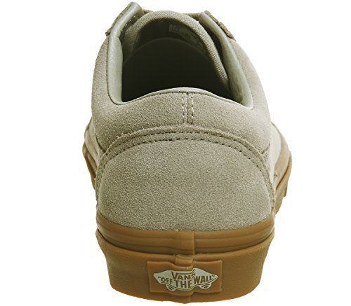 Top Adults' Old Skool Gum Trainers Khaki Light Vans Low Unisex Exclusive qBwXgndt