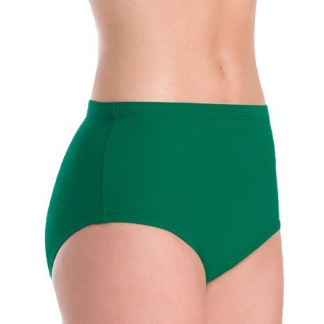 Body Wrappers 100% Stretch Nylon Brief Trunks, YS, Kelly Green ()