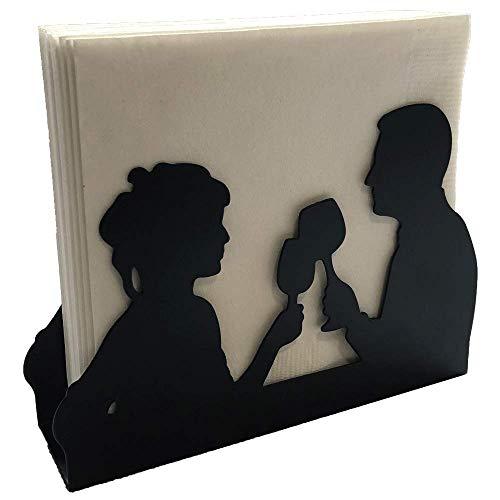 Napkin Holder: Freestanding Tissue Dispenser/Holder; Table Napkin Holder for Home Kitchen Restaurant Picnic Party wedding etc./ Galvanized Décor (Couple)