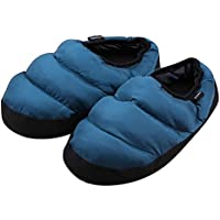 Fakeface Mens Womens Winter Indoor Slippers Quilted Down Ankle Boots