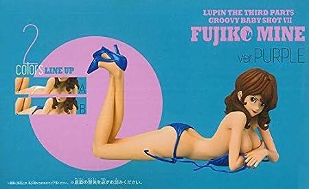 Lupin The 3rd FUJIKO MINE Purple ver Figure Groovy Baby Shot VII BANPRESTO Gift
