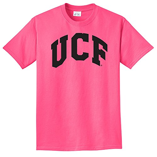 Central Essential T-shirt - Campus Merchandise NCAA Central Florida Golden Knights Arch Neon T-Shirt, Small, Neon Pink