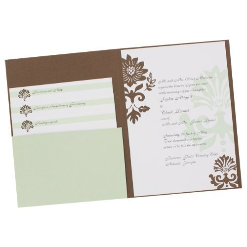 Best Occasions Invitation Kit (Best Occasions 25ct Bold Damask Pocket Invitation Kit)