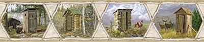Chesapeake HTM48551B Francis Cream Privy Collection Wallpaper Border