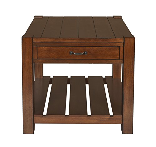 New Classic Furniture 30-707-20H Giverny End Table, African Honey