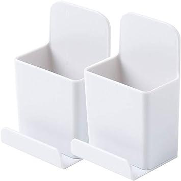 Joyjorya - Soporte para mando a distancia de TV (2 unidades), color blanco: Amazon.es: Electrónica