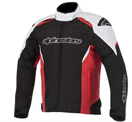 - Alpinestars Gunner Waterproof Jacket (X-LARGE) (BLACK/WHITE/RED)
