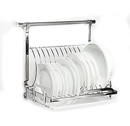 HANGO Stainless Steel Wall Mounted Kitchen Plates/Dishes Draining Rack Storage Foldable For Space Saving  sc 1 st  Amazon UK & HANGO Stainless Steel Wall Mounted Kitchen Plates/Dishes Draining ...