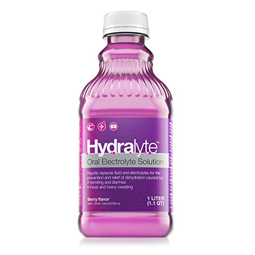 Hydralyte Oral Electrolyte Solution, Ready to Drink Clinical Hydration Formula, Berry, 33.8 Oz