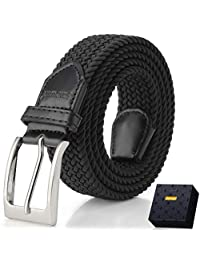 Fairwin Elastic Braided Belt, 1.3'' Stretch Belt, Fabric Woven Belt for Men and Women