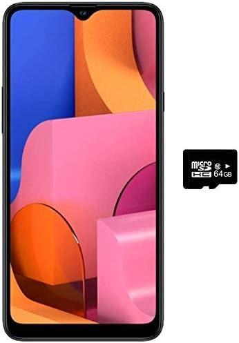 Samsung Galaxy A20s 32GB (SM-A207M) Single SIM, Factory Unlocked GSM, International Version, No Warranty - Blue (32GB + 64GB SD Bundle)