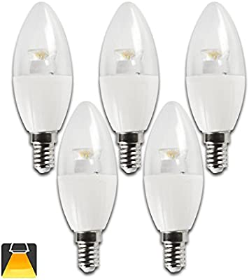 Aigostar - Bombillas LED C5 C37 tipo vela de 6 watios
