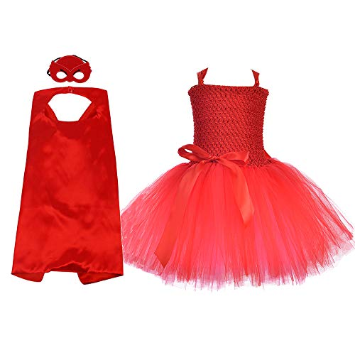 Hero Costume and Dress Up for Kids Girls Party Tutu Costumes Set Small -