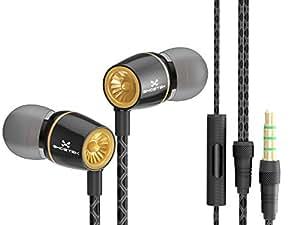 Wired 3.5MM Headphones Earphones, Ghostek Turbine Series Wired In-Ear Earbuds Stereo Headset(Black)