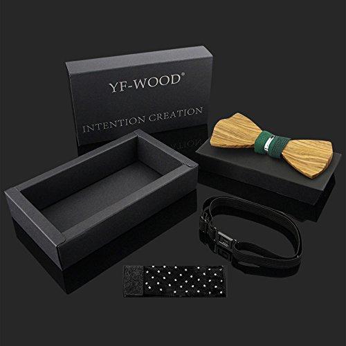 Men Bow Ties YFWOOD Unique Pre Tied Bowtie Vintage Wood Necktie Wedding Party BowtieMen Bow Ties Pre Tied Wooden Bowtie Vintage Wood Necktie Wedding Party Necktie by THAITOO (Image #3)