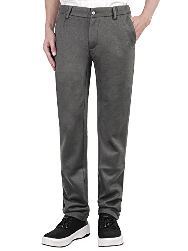 Men's Slim Casual Formal Straight Dress Mens Slacks Pants Suits Stretch Trousers Wool (34, (Premium Wool Trousers)