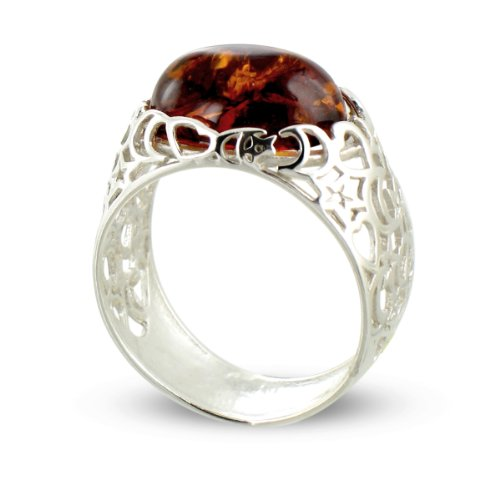 Tous mes bijoux - BABA01003 - Bague Femme - Argent 925/1000 4.1 gr - Ambre
