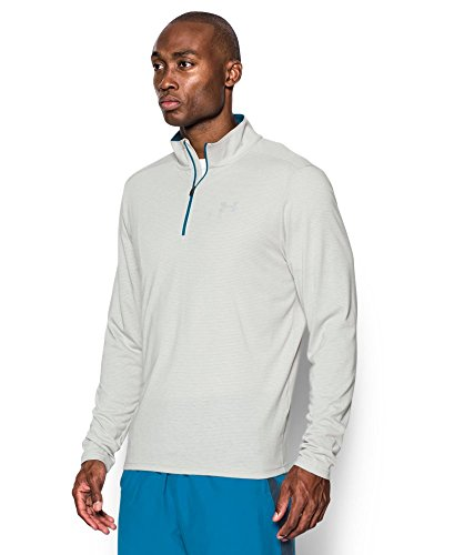 Under Armour Men's Streaker Run 1/4 Zip, Air Force Gray Heath/Peacock, Small by Under Armour (Image #2)