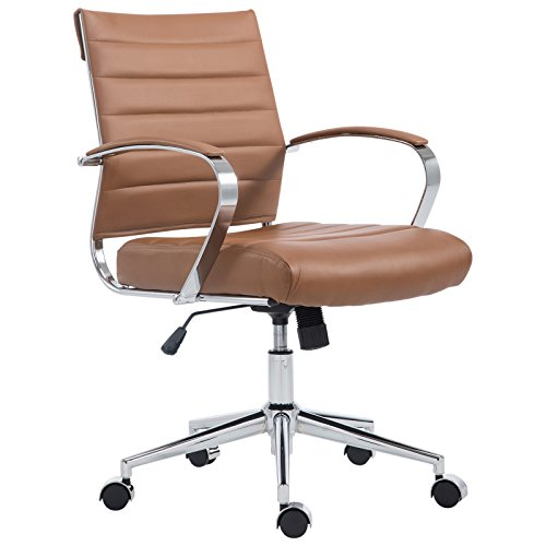 UPC 638455937086, Poly and Bark Tremaine Office Chair in Vegan Leather, Terracotta