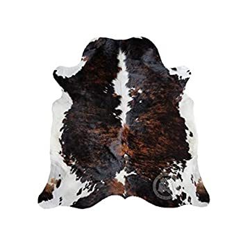 Image of Brindle Dark Tricolor Cowhide Rug Large Approx 5ft x 7ft 150cm x 210cm from Luxury COWHIDES