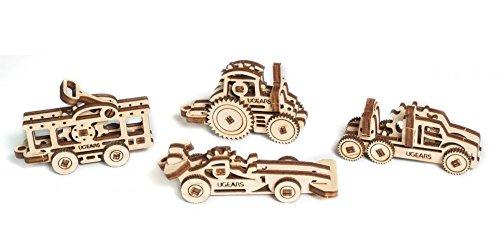 【超歓迎された】 Mechanical Ugears木製3dパズルu-fidgets-vehicles。4モデルConstructionセット B076MC8787 B076MC8787, 辰口町:9b364a60 --- clubavenue.eu