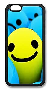ACESR 3d Smilies Nice iPhone 6 Case TPU Back Cover Case for Apple iPhone 6 4.7inch Black