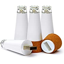 Set of 4 Premium Bottle Lights. Brightest Wine Cork USB Light on the Market - 12 Lumens. The Perfect Gift for the Wine Lover in Your Life. Also Works As a Night Light or Night Stand Light