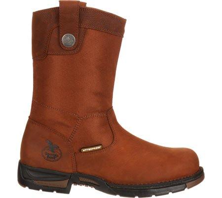 Georgia Boot Mens Gb00018 10 Wellington Aten Stålhätta Dogwood Läder