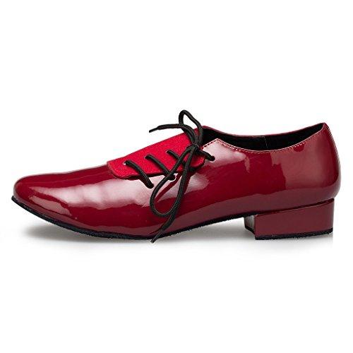 9 Dance M Round Toe Men's Shoes UK Red Leather Miyoopark Design wFfAqxC1