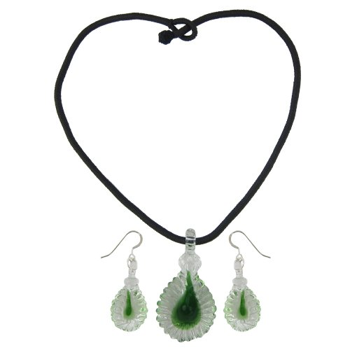 Fashion And Costume Jewellery In India (Crystal Pendant and Earrings Set Costume Jewelry Handmade In India)