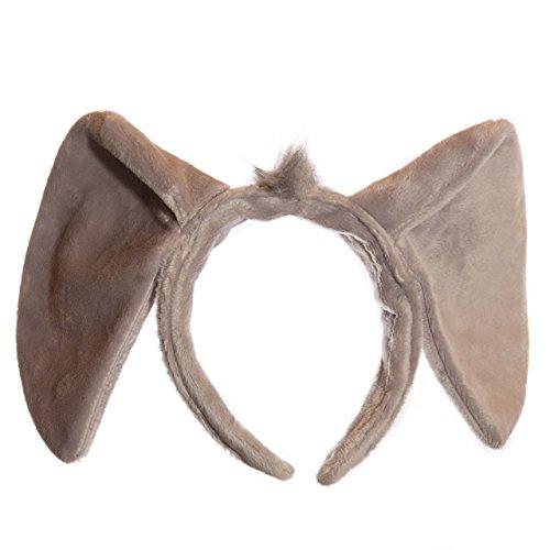 [Life-like Elephant Ears Headband Accessory for Elephant Cosplay, Elephant Costume, Pretend Animal Play or Zoo Animal Party] (Elephant Costume 4 Year Old)