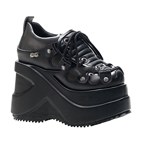 Demonia Outlaw-101 - gothique Industrial plateau chaussures femmes 36-41