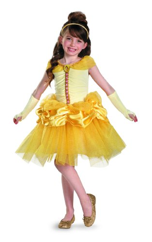 Disguise Disney Beauty and The Beast Belle Tutu Prestige Girls Costume, 4-6X