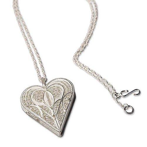 (NOVICA .925 Sterling Silver Filigree Necklace, 19.75