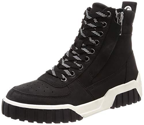 Diesel Women's LE S-RUA MC W Sneaker, Black, 10 M US