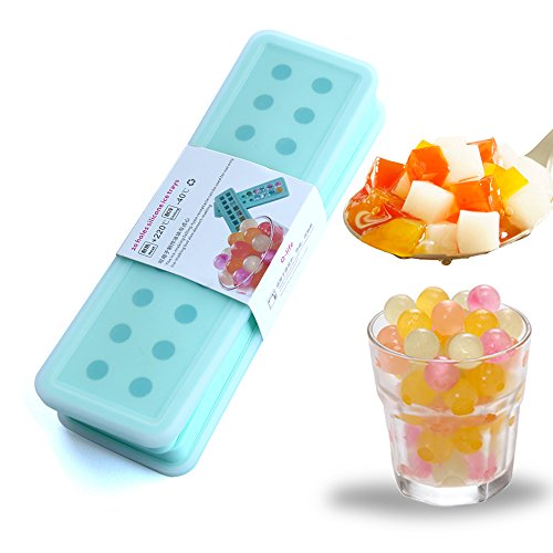 ( Set of 2 with lids) Silicone 20 cavities Ice Ball Ice cube mold DIY Silicone Ice Cube Sphere Tray Mold Mould Round Maker Pudding Jelly Bar Home(Blue) (Spherical Ice Cube Maker compare prices)