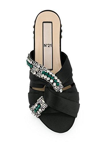 N°21 Damen N218E8713600 Schwarz Leder Sandalen