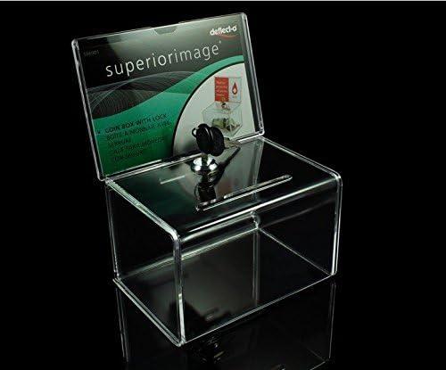 pack de 2 unidades) Transparente Cajas de Caridad acrílico/Caja de ...