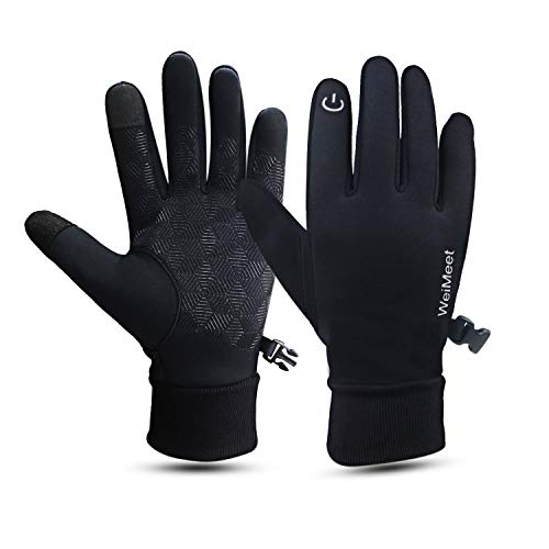new concept 66af6 eb0ff WeiMeet Winter Gloves Touch Screen Gloves Cold Weather Gloves Windproof  Cycling Running Gloves for Men and Women
